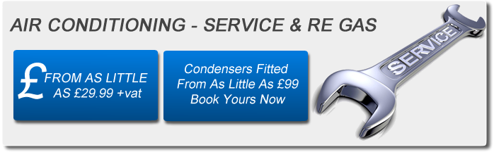 Air Con Servicing & Re-Gas From £39